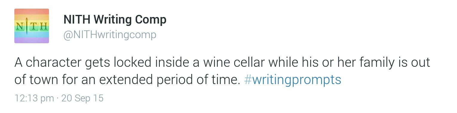Writing Prompt Wine Cellar